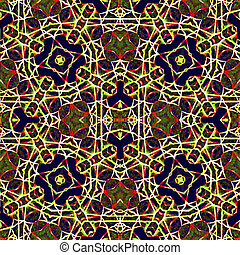 Colorful Geometric Abstract Seamless Pattern - Colorful...