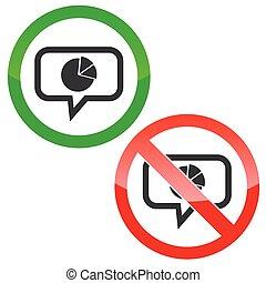 Diagram message permission signs