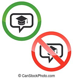 Graduation message permission signs