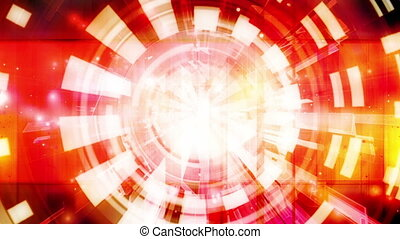 Abstract Red Orange Geometric Loop