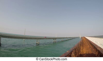 Fl Keys Bridge seven mile - Traffic on the seven mile bridge...