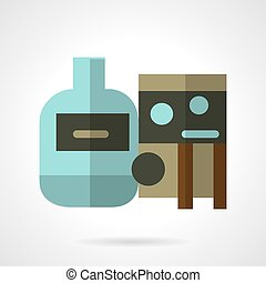 Flat vector icon for water tank - Flat color vector icon for...
