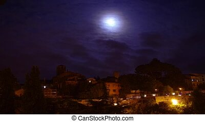 blue moon time lapse, Viterbo - the July 31, 2015 blue Moon...