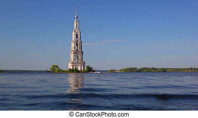 Belfry on island. - Belfry on island in Russia.