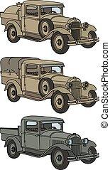 Vintage military trucks