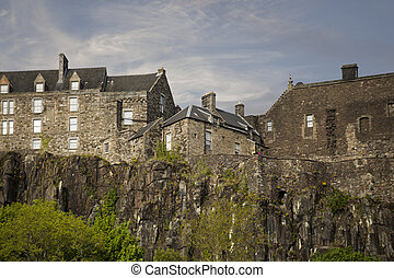 Close shot of Stirling Castle - Shot of Stirling Castle in...