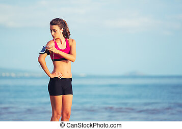 Healthy Sports Fitness Woman - Healthy Active Lifestyle...