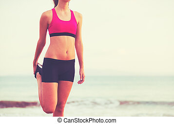 Fitness Woman Stretching - Healthy Active Lifestyle. Young...