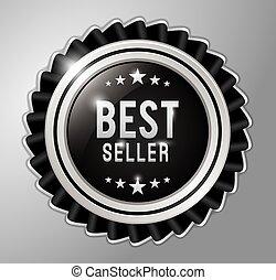 Best seller badge ribbon