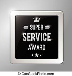 Super service award square badge