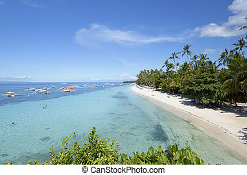 Aloha Beach in Panglao, Bohol - Phlippines - Alona Beach in...