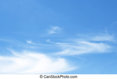 azul, céu,