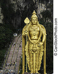 Batu Caves  - Statue in front of Batu Caves