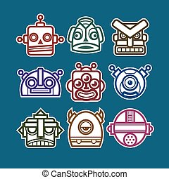 Robot Monster Icons
