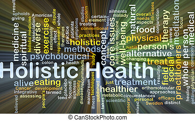 Holistic health background concept glowing - Background...