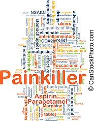 Painkiller background concept - Background concept wordcloud...