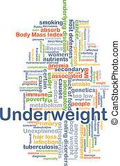 Underweight background concept - Background concept...