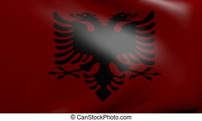 albania strong wind flag