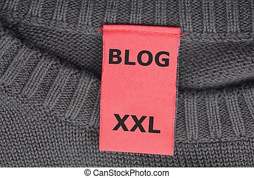 blog - xxl internet web blog concept with fashion label