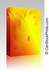 Wavy glowing colors box package - Software package box...