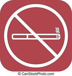 No smoke icon. Stop smoking symbol. Vector. Icon for public...