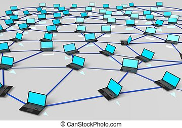 Internet concept - 3D, computer generated network clip-art