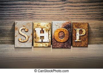 Shop Concept Letterpress Theme