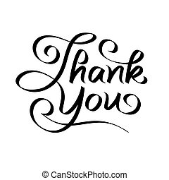 thank you hand lettering - text; handmade calligraphy;...