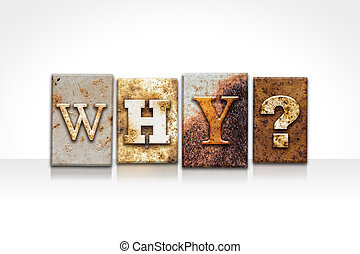 Why Letterpress Concept Isolated on White