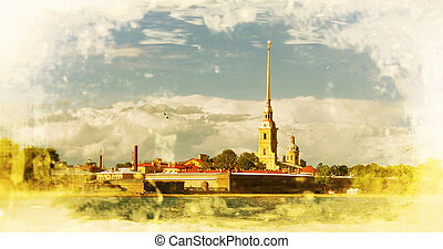 St. Petersburg. Peter and Paul Fortress. Russia. Filtered...