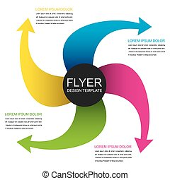 creative info-graphics design - creative colorful arrow...