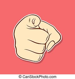 Pointing Finger At You Clip Art