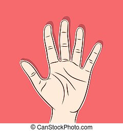 five finger count design - open hand or five finger count...