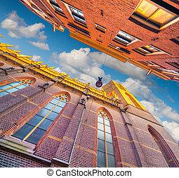 elementy, autentyczny, Architektura, Holenderski