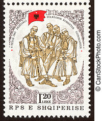 philatelic sixty one - The scanned stamp The Albanian stamp...