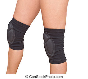 legs with knee caps - woman legs with knee cap pad protector...