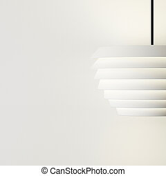 Lamp design on white wall decorate of interior