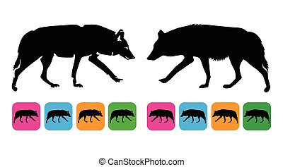 wolf vector silhouette
