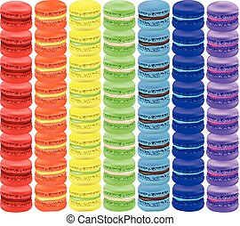 Rainbow of macaroon. Vector illustration on white background