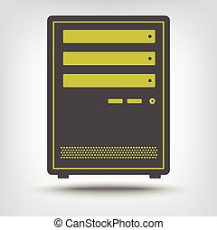 Icon of computer server