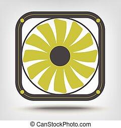 Computer fan icon as a concept