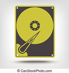 Hard drive disk icon as a concept
