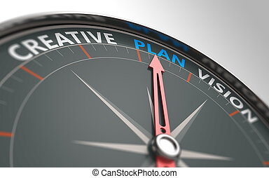 Planning business concept - Planning business in the compass...