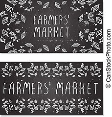 Farmers Market Cards. Hand-sketched - Farmers Market Cards....