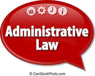 termo, negócio, Administrativo, Ilustração, fala, lei, bolha