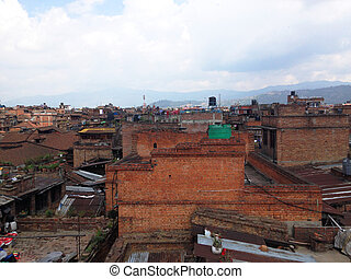 view of Bhaktapur, the old town in Nepal