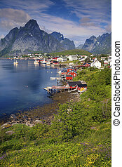 Norway. - Scenic town of Reine on Lofoten islands in Norway...