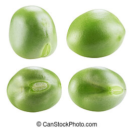 green peas - Macro fresh green peas isolated on white...