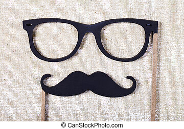 wedding props mustache and glasses - a wedding props...