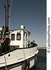Fishing Trawler - An old wooden fishing trawler ready to go...